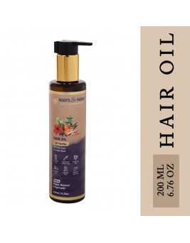 Roots And Herbs Ayurvedic Natural Treatment 100% Vegan No Paraben 49 Herbs Miracle Hair Food Moisturizing Hair Oil