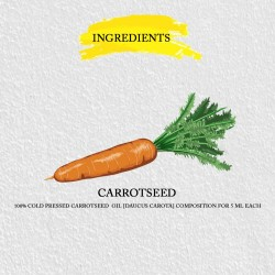 CARROTSEED CARRIER OIL PURE & COLD PRESSED 100% VEGAN,AYURVEDIC & HALAL