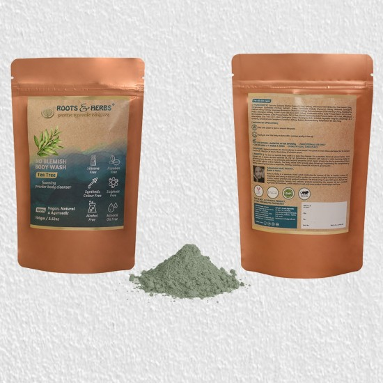 Tea Tree Body Wash, Shower Powder For Women And Men For Body Odour, Athlete's Foot, Jock Itch, Skin Irritations, Acne