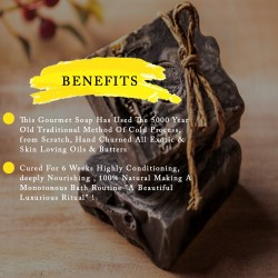 Volcanic Lava Clay And Oudh Cold Process Gourmet Cleansing Bar Soap For Men & Women